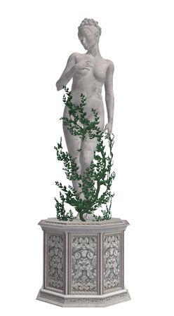 Grey estatua de vid