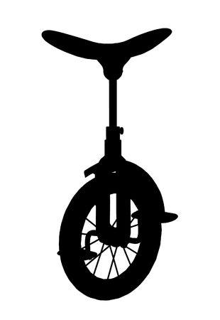 Black unicycle silhouette Stock Photo
