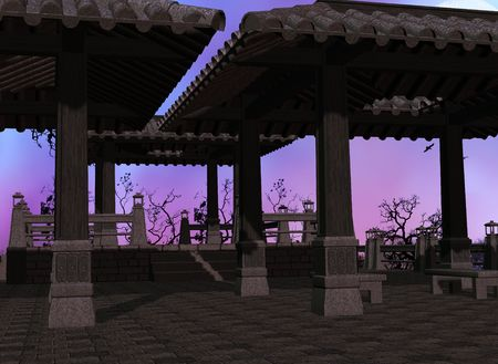 Asian temple background