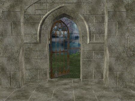 gated: Outside of sanctuary walls with gated open