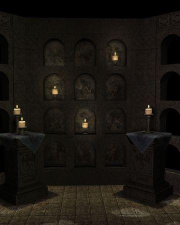 the circumstances: Inside shrine background
