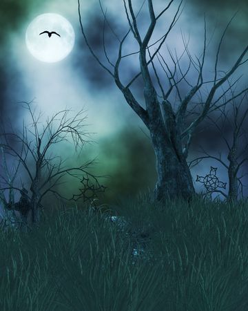 Spook Haunted Hintergrund Standard-Bild - 5117196
