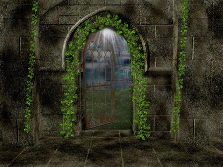 Inside the sanctuary walls