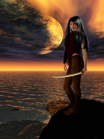 Science Fiction Female Warrior