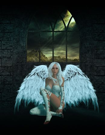 elohim: Angel Sitting Down