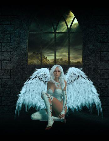 elohim: Angel Sitting Down