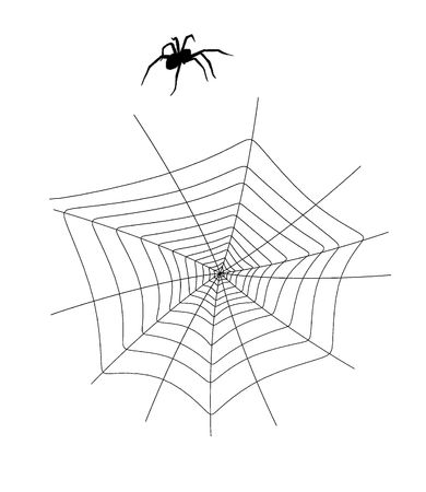 A  black halloween illustration silhouette on an white background
