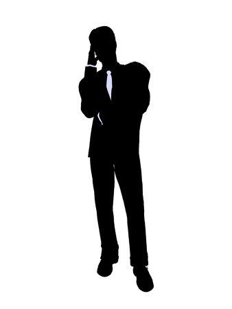 Männlich Business executive Silhouette auf weißem Hintergrund Standard-Bild - 5374409