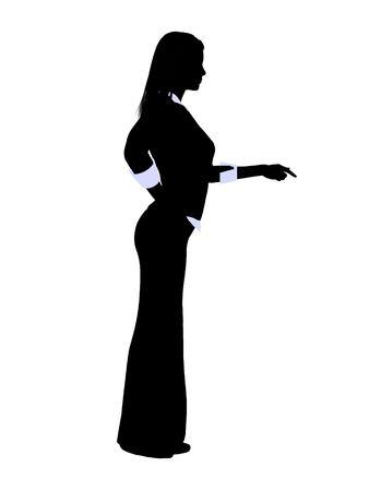 Weibliche Business executive Silhouette auf einem weißen Hintergrund Standard-Bild - 5374396