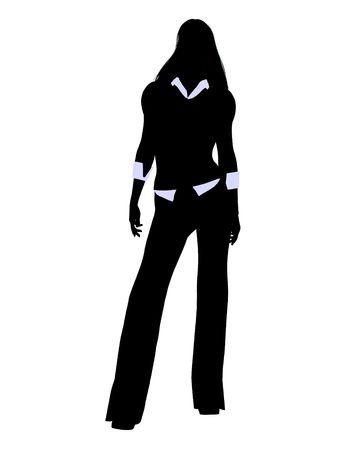 Männlich Geschäftsmann Silhouette auf weißem Hintergrund Standard-Bild - 5374406