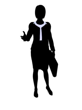 Männlich Geschäftsmann Silhouette auf weißem Hintergrund Standard-Bild - 5374422