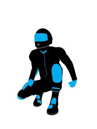 Sport maschile biker arte illustrazione silhouette su uno sfondo bianco  Archivio Fotografico - 5719173