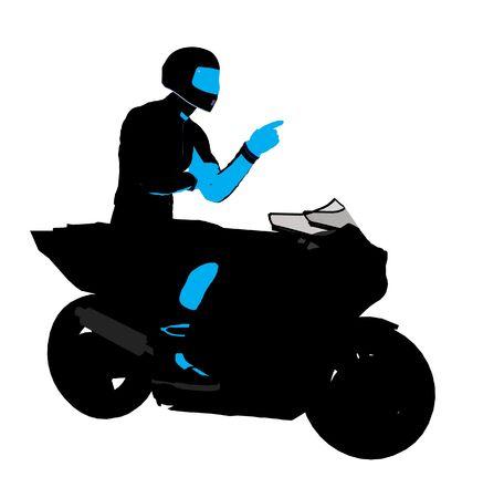 Sport maschile biker arte illustrazione silhouette su uno sfondo bianco  Archivio Fotografico - 5717603