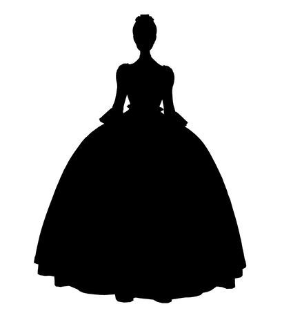 Cinderella illustration silhouette on a white background Stock fotó