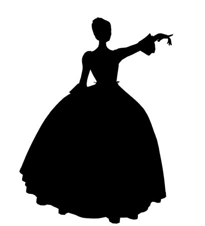 Cinderella illustration silhouette on a white background Banque d'images