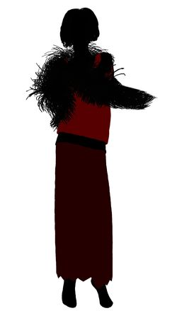 1920s female silhouette on a white background