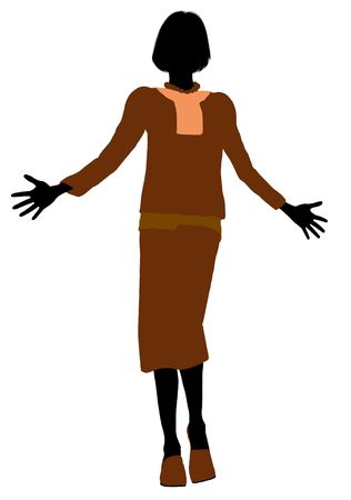 conservative: Conservative female illustration silhouette on a white background