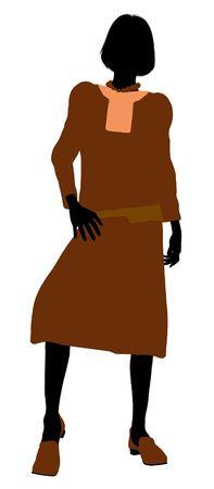 erhaltend: Konservative weiblichen Abbildung Silhouette auf wei�em Hintergrund
