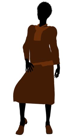 conservative: Conservative african american female illustration silhouette on a white background