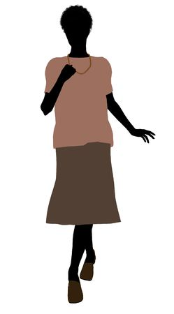maternal: Grandmother silhouette illustration on a white background
