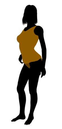 nighty: Woman lingerie without socks illustration silhouette on a white background