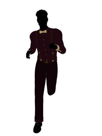 Business man silhouette illustration on a white background
