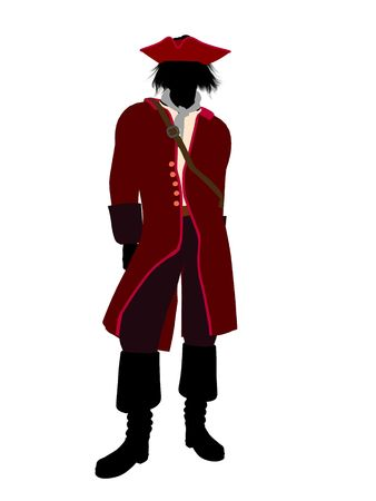 Captain hook illustration silhouette on a white background Stock Illustration - 6585826