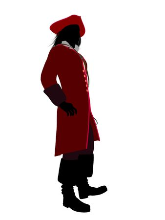 Captain hook illustration silhouette on a white background Stock Illustration - 6586564