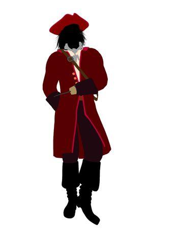 tinker bell: Captain hook illustration silhouette on a white background