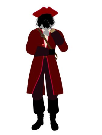 Captain hook illustration silhouette on a white background illustration