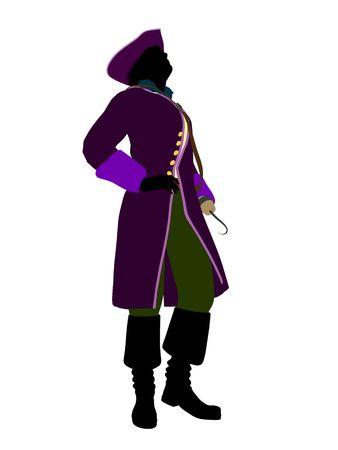 st  bernard: Captain hook illustration silhouette on a white background