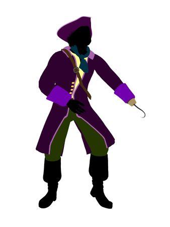 Captain hook illustration silhouette on a white background Stock Illustration - 6586710