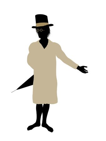John of Peter Pan illustration silhouette on a white background Stock Illustration - 6586060