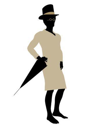 John of Peter Pan illustration silhouette on a white background Stock Illustration - 6586017