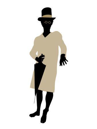 john: John of Peter Pan illustration silhouette on a white background Stock Photo