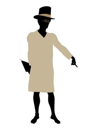 John of Peter Pan illustration silhouette on a white background Stock Illustration - 6585993