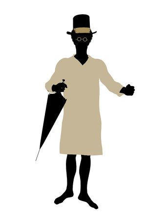 John of Peter Pan illustration silhouette on a white background Stock Illustration - 6586164