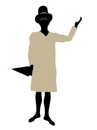 John of Peter Pan illustration silhouette on a white background Stock Photo