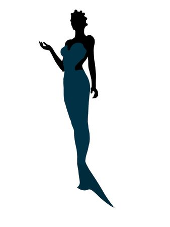 scuttle: Little mermaid illustration silhouette on a white background