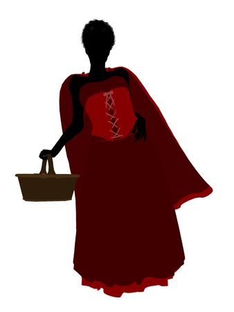 Little Red Riding Hood illustration silhouette on a white background Stock Illustration - 6586263