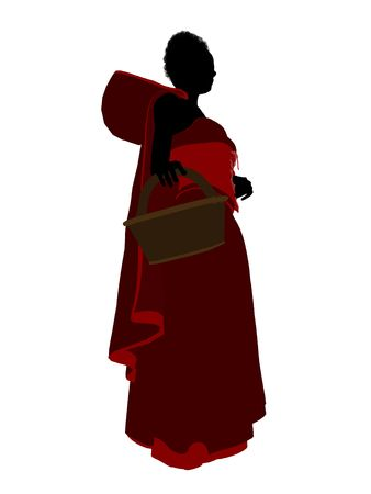 Little Red Riding Hood illustration silhouette on a white background Stock Illustration - 6586592