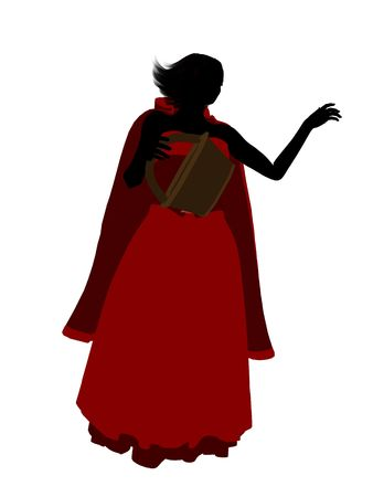 Little Red Riding Hood illustration silhouette on a white background Stock Illustration - 6586661
