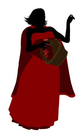 Little Red Riding Hood illustration silhouette on a white background Stock Illustration - 6586525