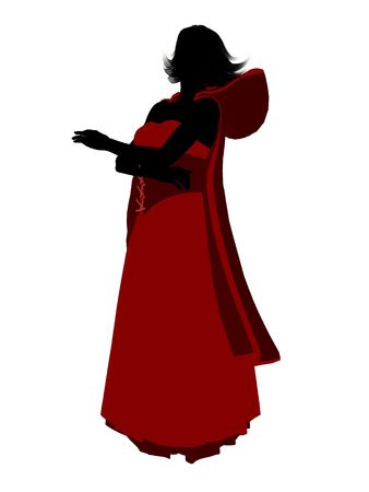 Little Red Riding Hood illustration silhouette on a white background Stok Fotoğraf - 6586689