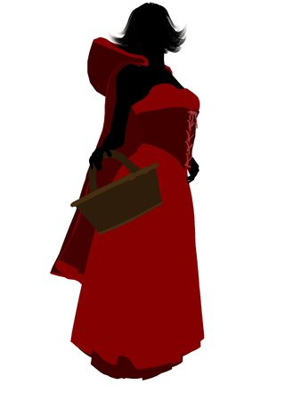 Little Red Riding Hood illustration silhouette on a white background Stock Illustration - 6586446