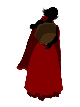 Little Red Riding Hood illustration silhouette on a white background Stock Illustration - 6586745
