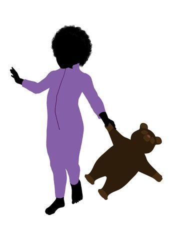 tinker bell: Peter of Peter Pan illustration silhouette on a white background