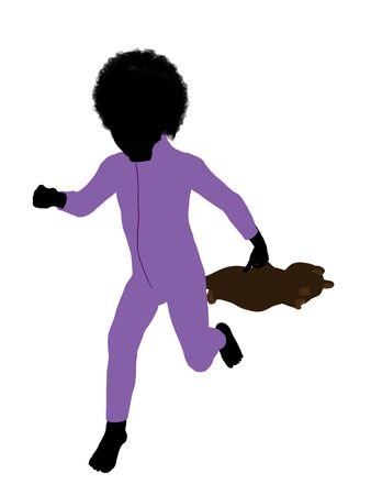 Peter of Peter Pan illustration silhouette on a white background Stock Illustration - 6586705