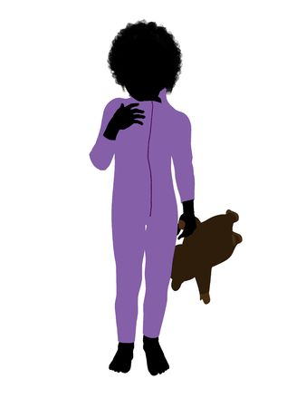 Peter of Peter Pan illustration silhouette on a white background illustration