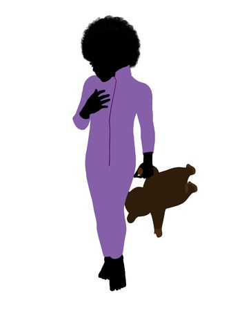 Peter of Peter Pan illustration silhouette on a white background Stock Illustration - 6586767